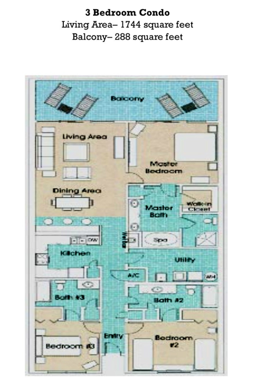 Floor Plan for Beach Front Paradise!